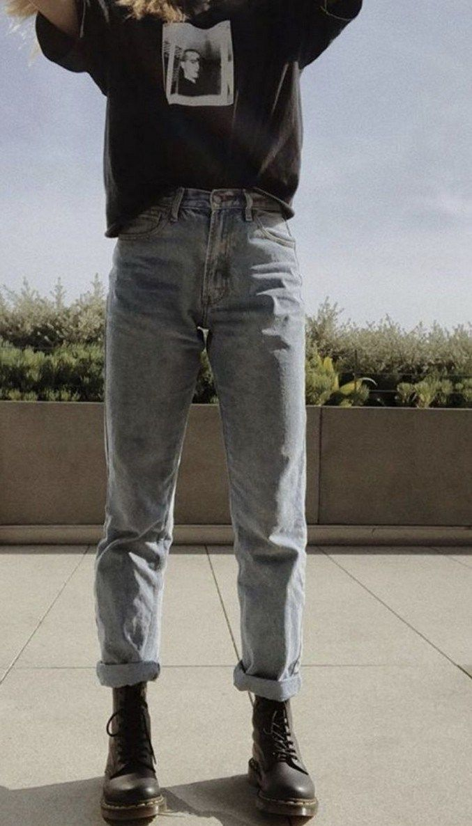 10 tips ways to style mom jeans 13 #grungeoutfits