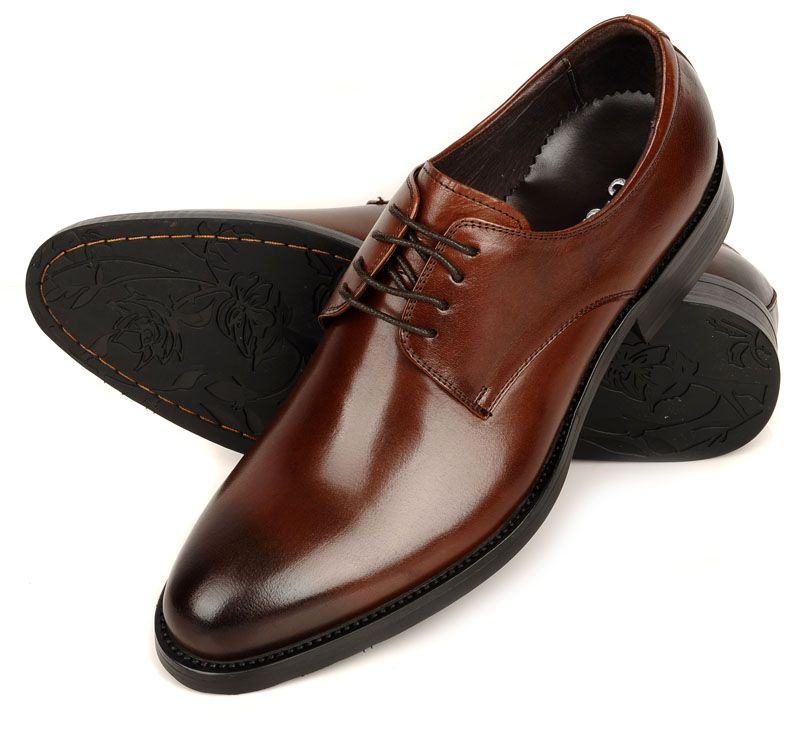d2dbda8af11 British-style-genuine-leather-formal-shoes-round-toe-genuine-leather -italian-male-formal-leather
