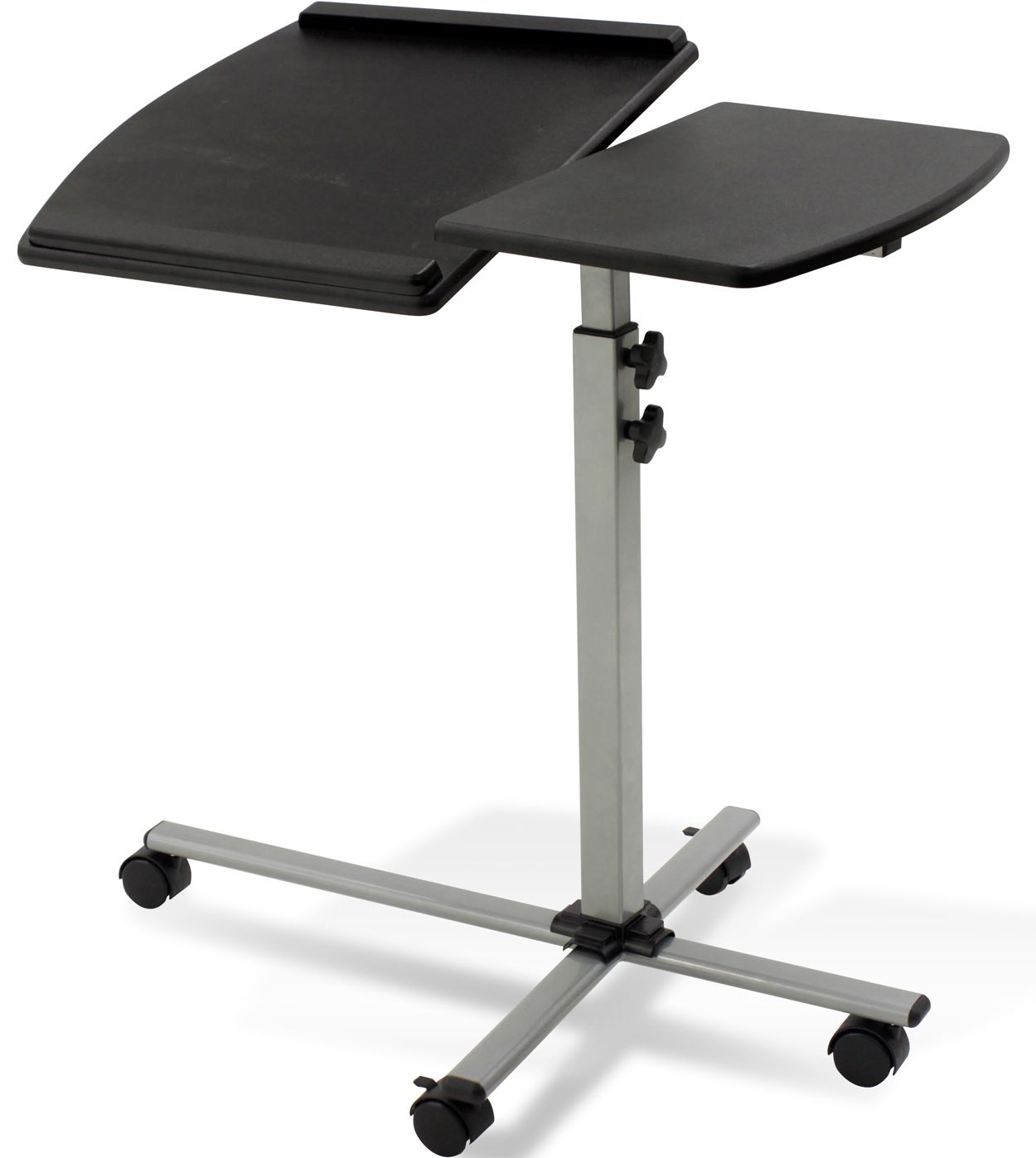 This Rolling Laptop Desk Gives You A Simple Way To Work On Paperwork Homework Or Even Adjustable Laptop Table Adjustable Standing Desk Adjustable Height Table