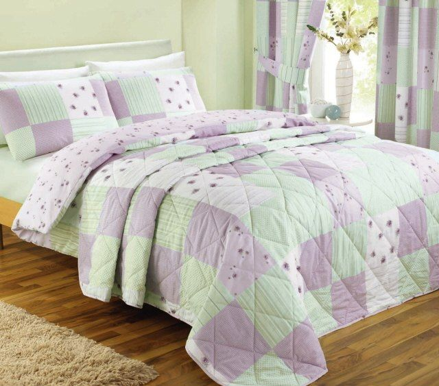 Lilac Patchwork Vintage Shabby Chic Bedding Duvet Set Bedspread Or Curtains Pink Duvet Cover Bed Spreads Duvet Bedding