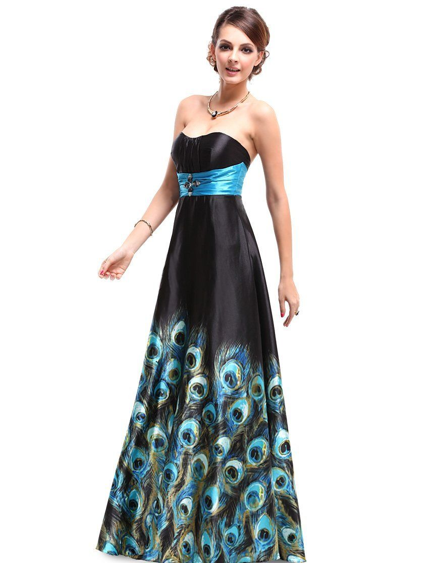 Best wedding dress for size 20  Ever Pretty Floral Printed Strapless Rhinestones Satin Ruffles Prom