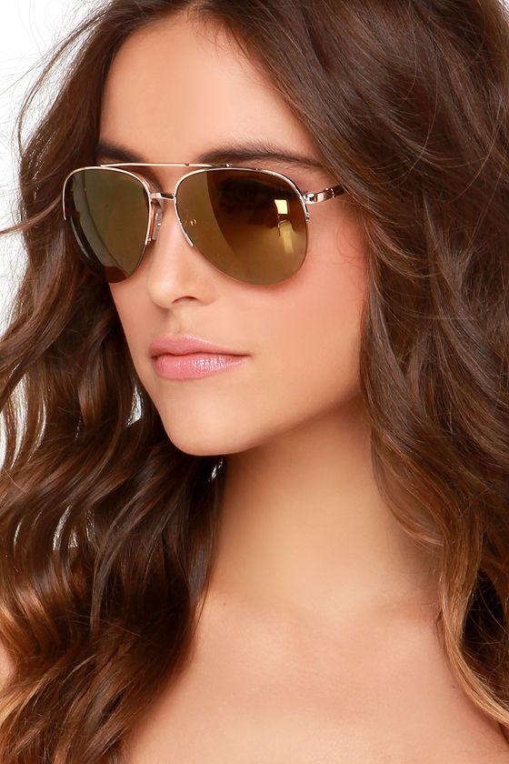 1dd749c9d Sun Flares Gold Aviator Sunglasses   Sunglasses   Gold aviator ...