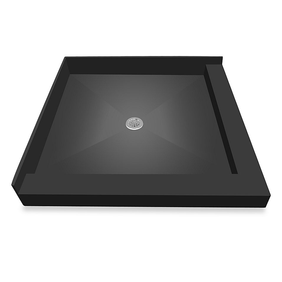 Redi Base 42 X 42 Right Double Curb Shower Pan With Center Drain