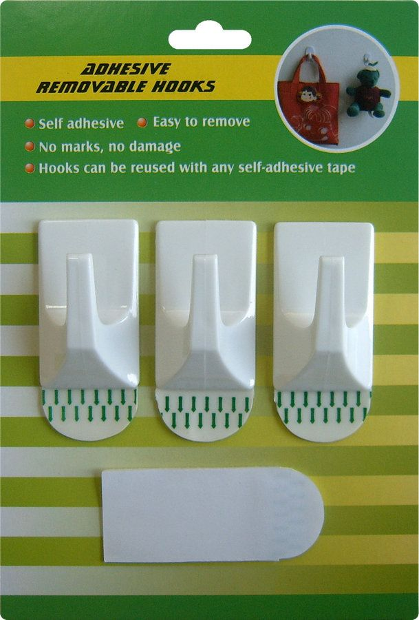 Adhesive Hook Hs01 Plastic Hook With Strong Adhesive Tape To Install Wall Surface The Hook Is Removable When Remove F Adhesive Adhesive Tape Strong Adhesive
