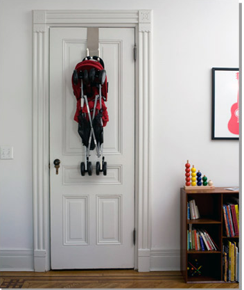 Strollaway stroller hanger. On our must-have list!