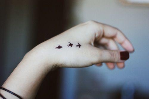 Bird Tattoo Designs For Womens Hands