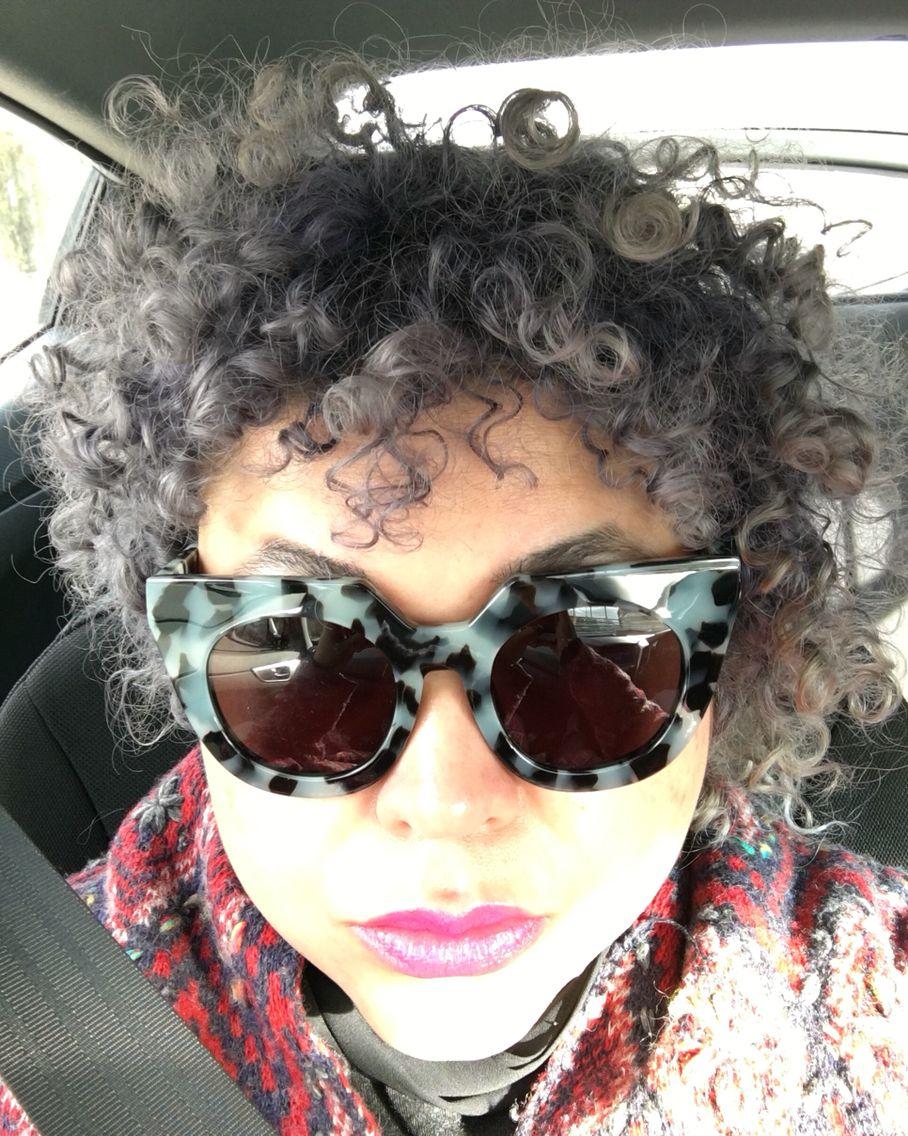 e592e8f24c Grey hair and valley eyewear Spleen baby blue tort sunglasses Cat Eye  Sunglasses