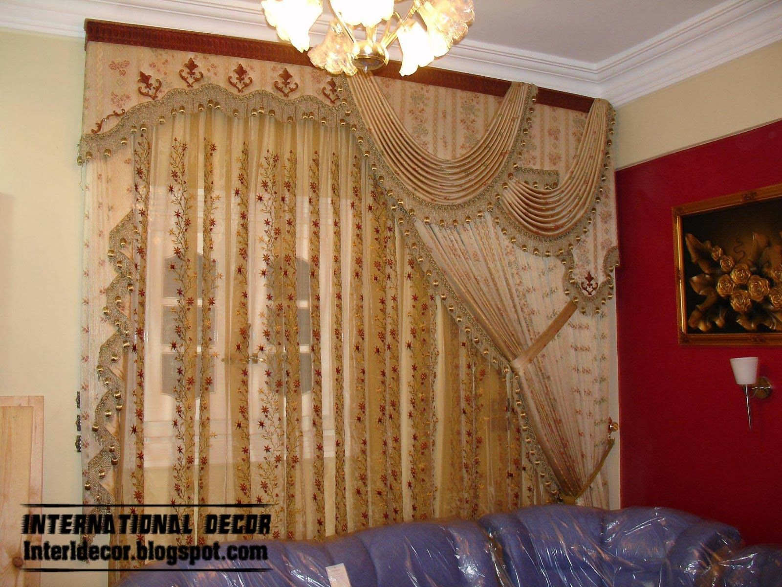 Modern living room curtains drapes - Luxury Drapes Luxury Drapes Curtain Design Bright Style For Living Room 2014