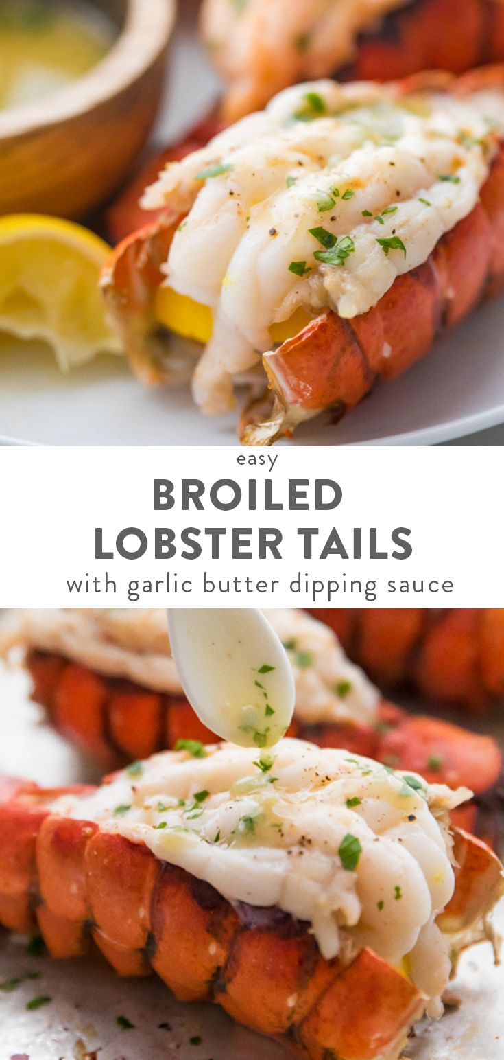 How to Broil Lobster Tails + Garlic Butter Sauce