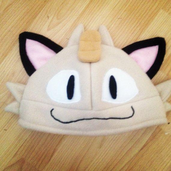 Handmade pokemon hat- Meowth | pokemon | Pinterest | Gorros, Pokémon ...