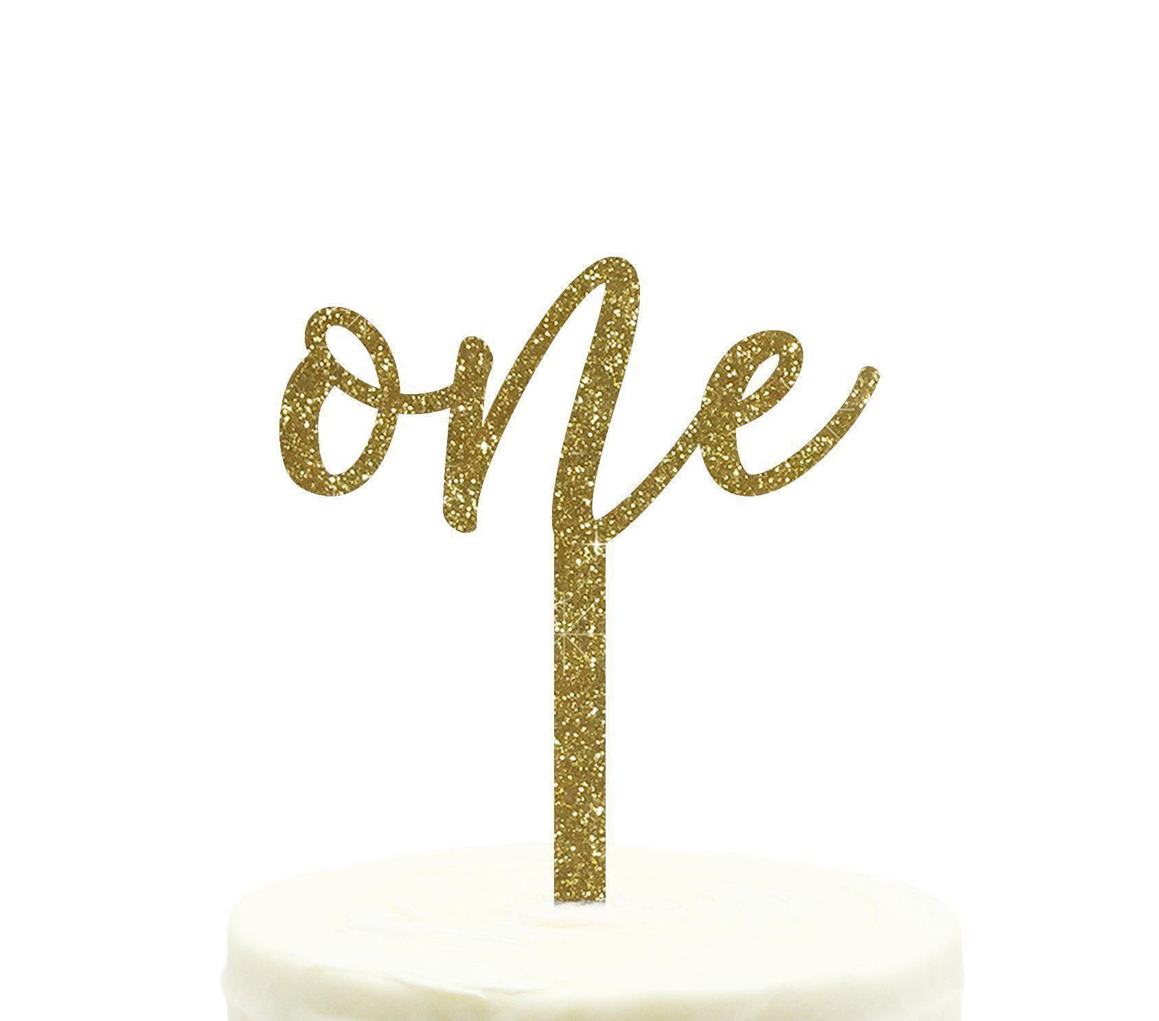 Laser Cut Cake Topper Birthday Cake Decor Gold Scripted Modern Acrylic Happy Birthday Cake Topper For Birthday Cake Birthday Parties
