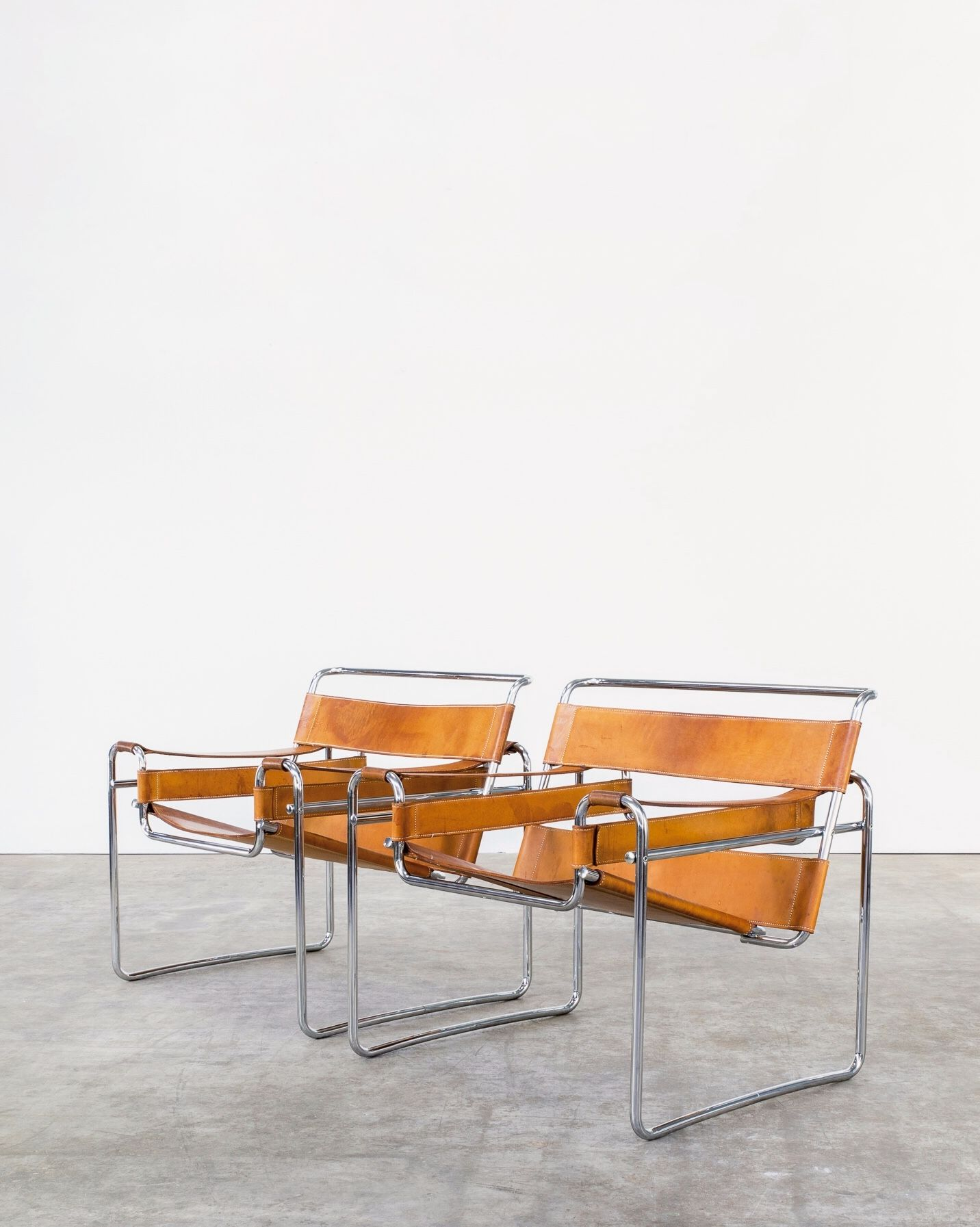 Marcel Breuer 'wassily' B3 chairs 1925 for Gavina