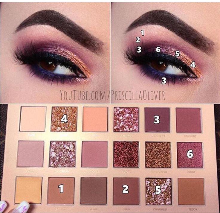 Quelques étapes simples pour des débutants au maquillage fantastique pour les yeux roses
