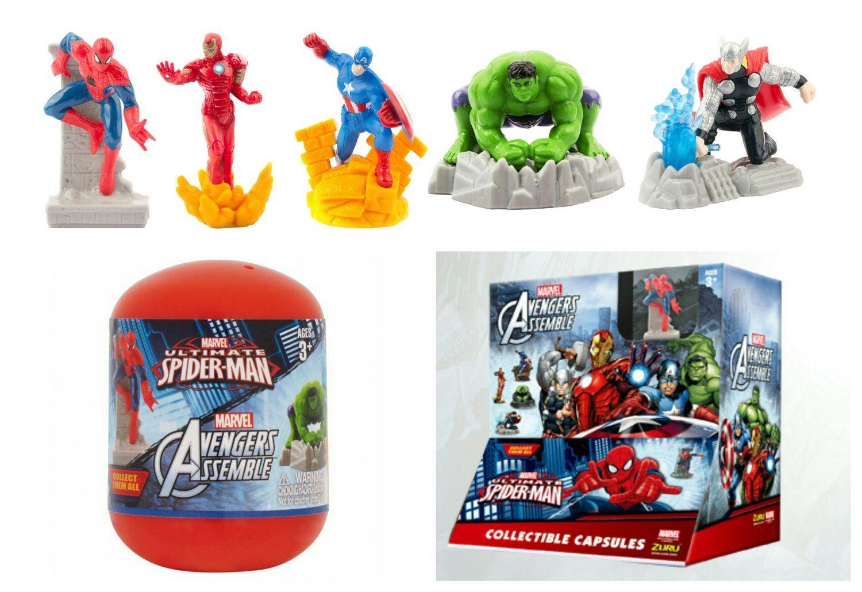 3b88ddbb878f Marvel Ultimate Spider-Man Avengers Assemble Capsule by Zuru ×16 Sealed  Packs -  4401