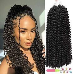 Amazing offer on 14inch Passion Twist Hair 6 packs Water Wave Crochet Braids Passion Twist Long