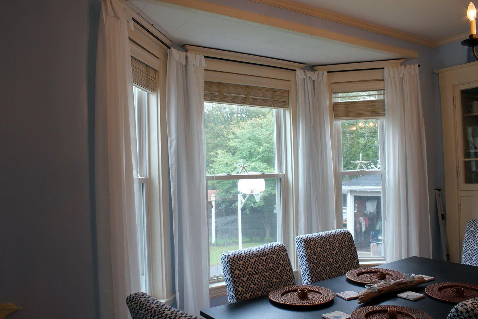 3 Bay Window Curtain Ideas Window Treatments Living Room Dining