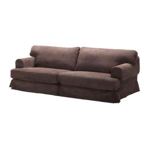 Ikea Hovas Sofa Dark Brown Corduroy