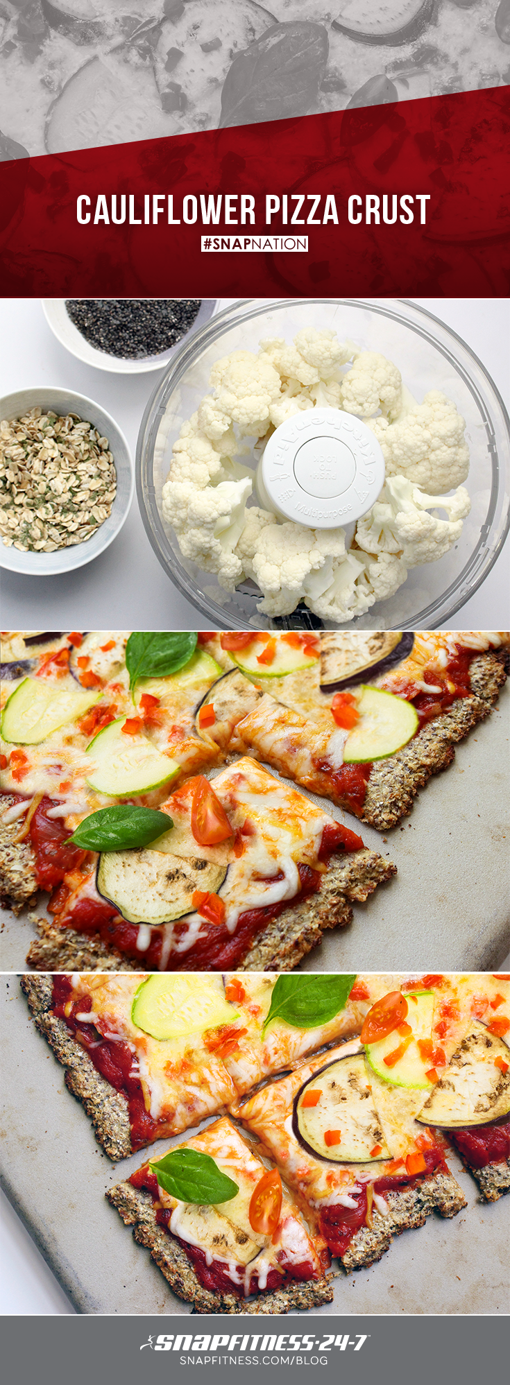 The best day of the year is here! No, we're not talking about leg day... It's National Pizza Day! Try our delicious, veggie-packed, cauliflower crust pizza for healthier pizza option that will make your taste buds say WOW!