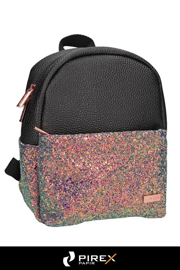 08cbdfb9ca04 Iskolatáskák, tolltartók, tornazsákok - TopModel kis hátizsák (23x19x5 cm)  fekete, glitteres #topmodel #hátizsák #kislány #glitter