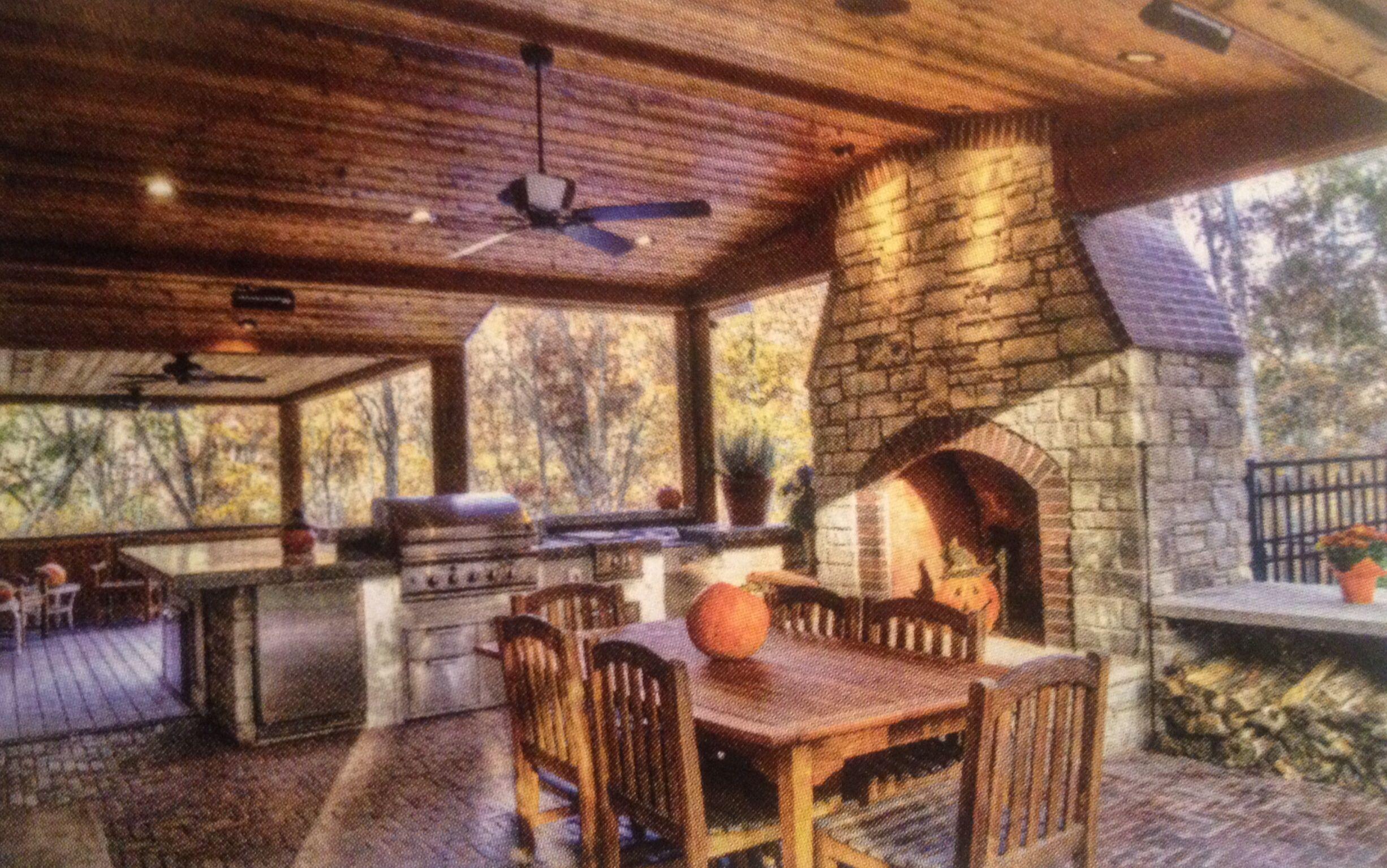Outdoor Kitchen Dream Log Cabin Pinterest Kitchens