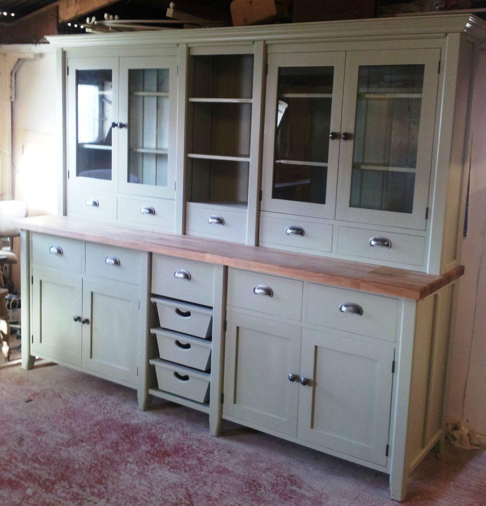 Painted Free standing Kitchen Large Basket Dresser Unit | Standing ...