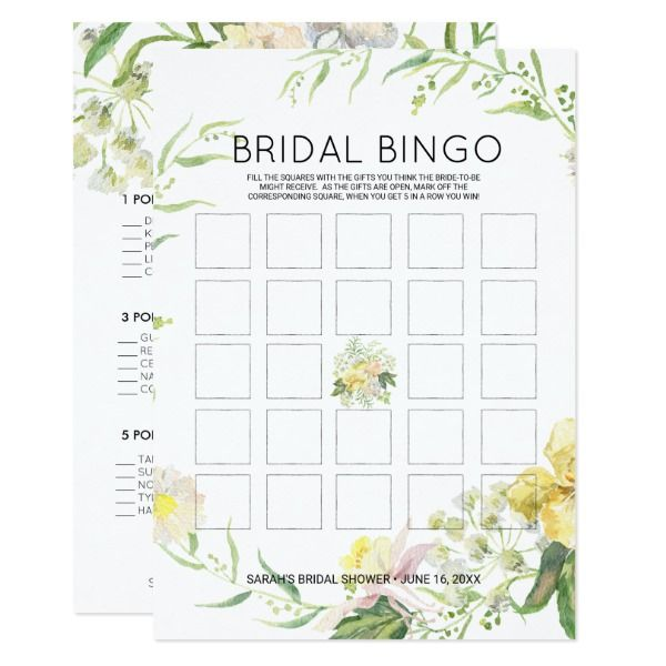ethereal garden bridal bingopurse raid game invitation game bingo blooms bridal shower purse raid country floral ethereal summer garden