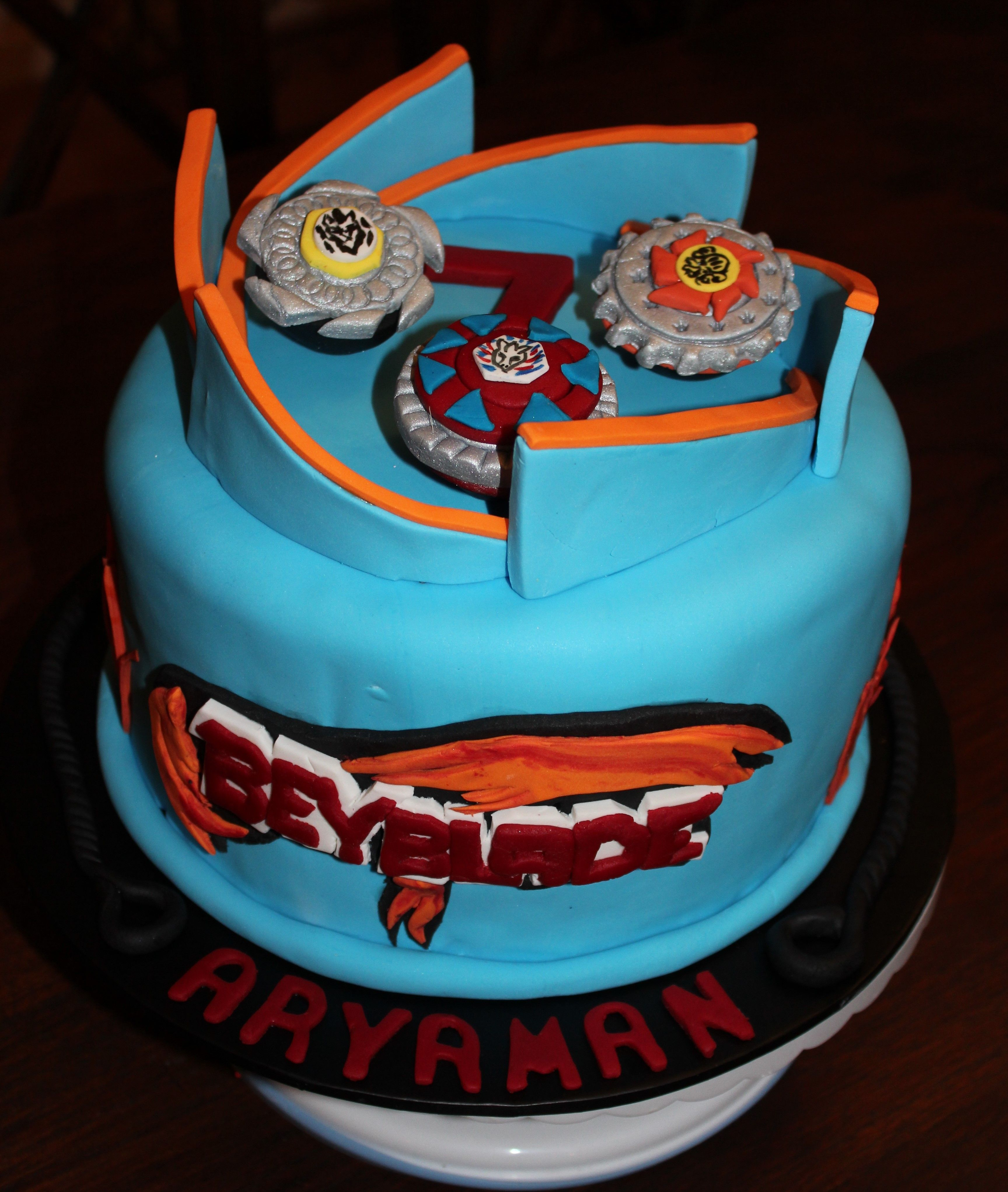 Beyblade Birthday Cake With Logo Sweet Enoughenough Sweets