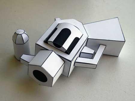 Paper toy gun--the only kind of gun I\u0027ll carry Design Love Paper