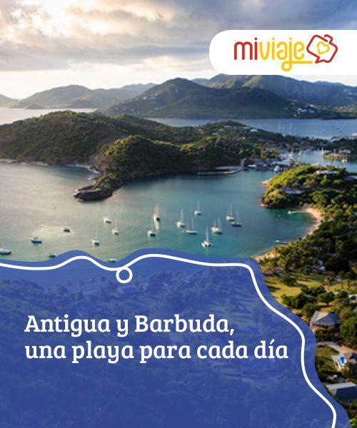 Antigua y Barbuda, una playa para cada día   De origen #volcánico, #Antigua y Barbuda están entre las #islas más bellas y llamativas de las #Antillas. Un auténtico paraíso de #aguas turquesa y 365 playas. #Destinos