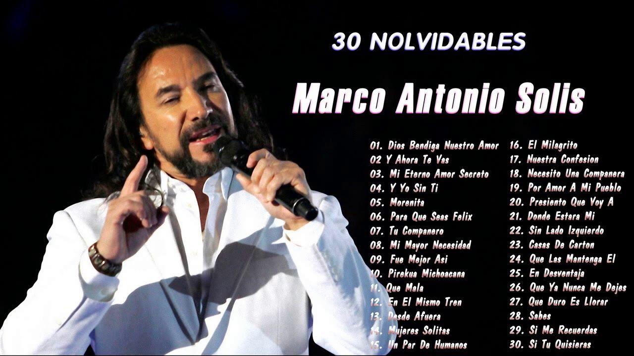 Marco Antonio Solis Baladas Romanticas Exitos 90s 30 Exitos Mix Youtube En 2021 Baladas Romanticas Baladas Marco Antonio
