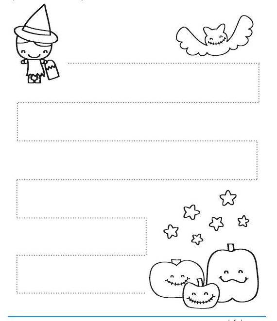 halloween-trace-line-worksheet-1.jpg 570×662 pixels | Pre writing ...