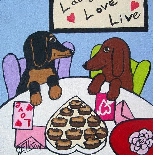 Dachshund Clube Julie Ellison With Images Dachshund Love Dog Valentines Dachshund