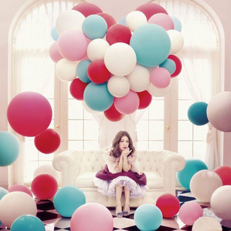 36 Inch Grote Ronde Latex Ballon 14 Kleuren Bruiloft Decoratie