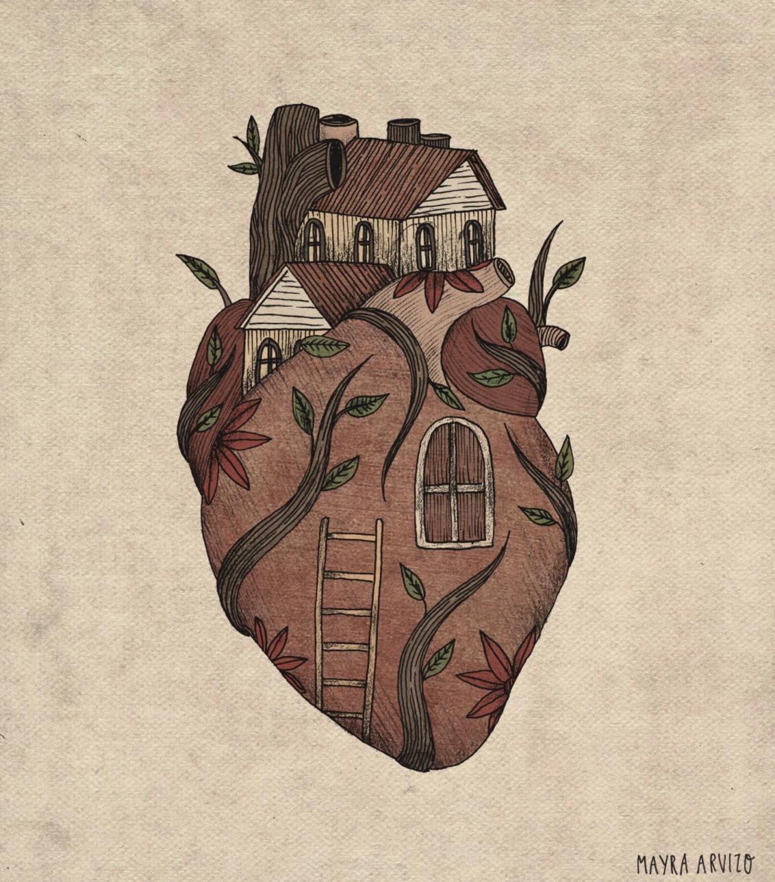 Ilustraciones que expresan el dolor de una mujer que nunca dice lo que siente – Diseño