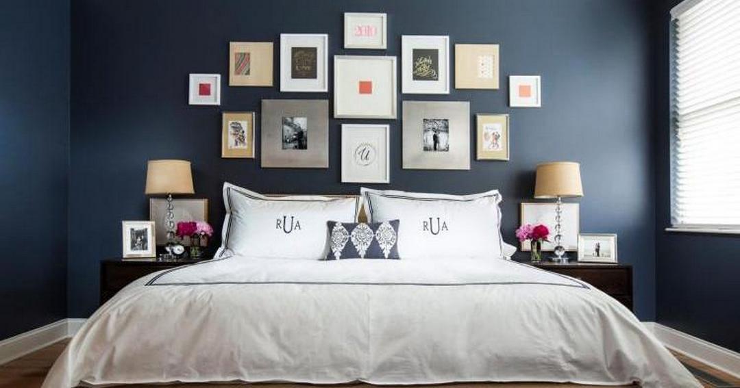 5 Cool Bedroom Interior Design Ideas Dark Blue Bedrooms Blue Bedroom Decor Blue Bedroom Walls