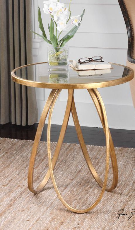 Gold Accent Table Decorating Table