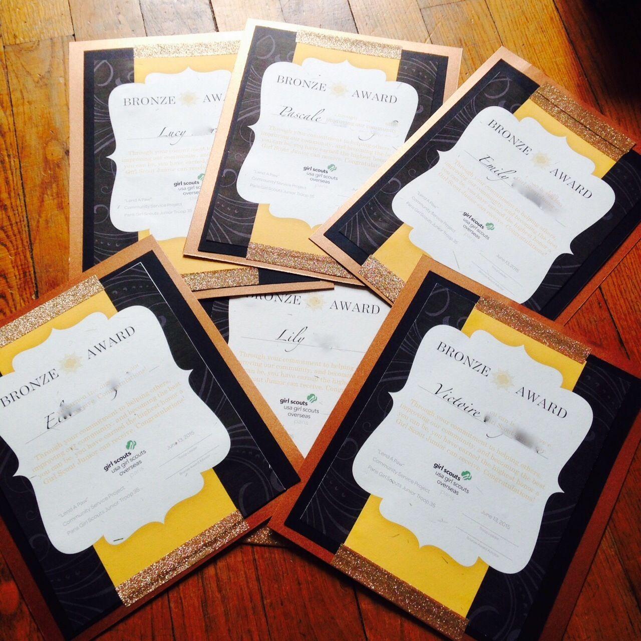 #GirlScout Bronze Award Certificates DIY Using #MSWord