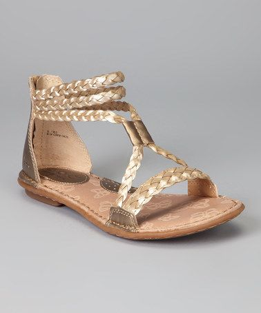 6d83ba95867 Take a look at this Sun Bronze   Champagne Macedonia Sandal by b.o.c by  Born on  zulily today!
