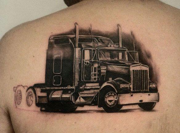 Resultado De Imagen Para Tatuajes De Camiones Americanos Trucker Tattoo Truck Tattoo Larry Tattoos