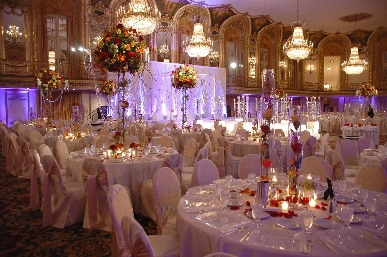 Candle decorations for wedding receptions wedding hall for Wedding hall decoration photos
