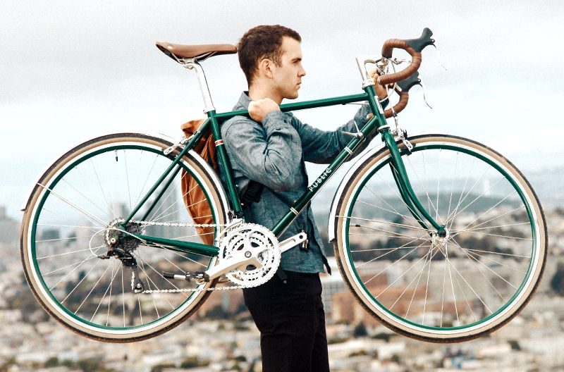 Public R24 City Road Bike In British Racing Green Bicycle Fashion