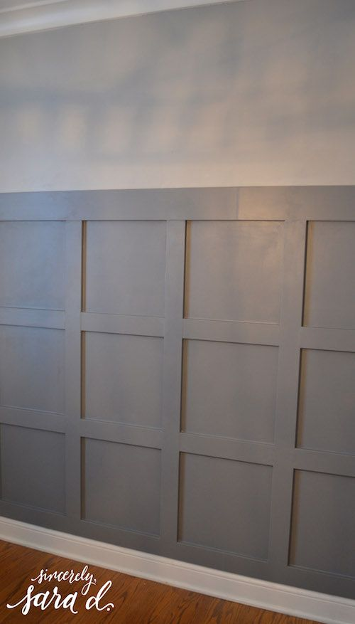 Great Tutorial For Square Paneled Wall Sincerleysarad