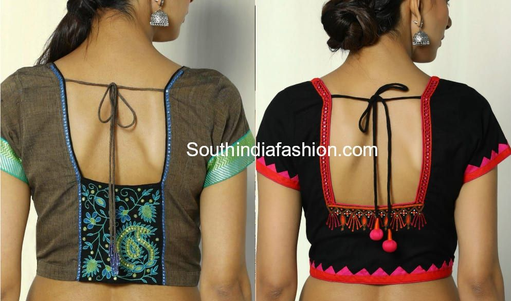 Blouse Back Neck Designs For Cotton Saree Blouses Blouse Neck Designs New Blouse Designs Blouse Back Neck Designs