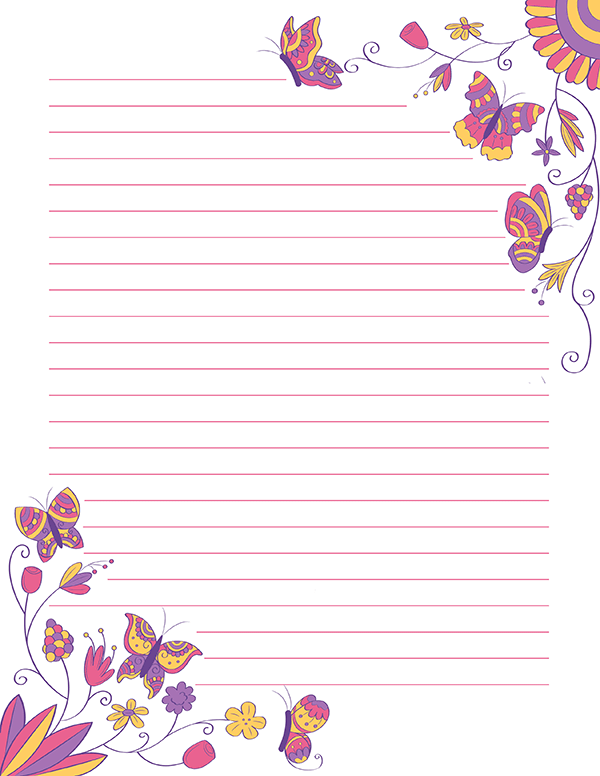 Gratifying image within free printable stationery pdf