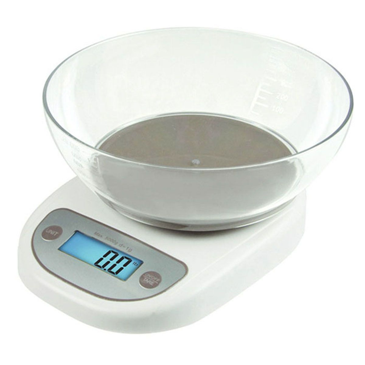 Precise Electronic Digital Kitchen Scale With Bowl Food Weighing Tool 0.1g    5kg
