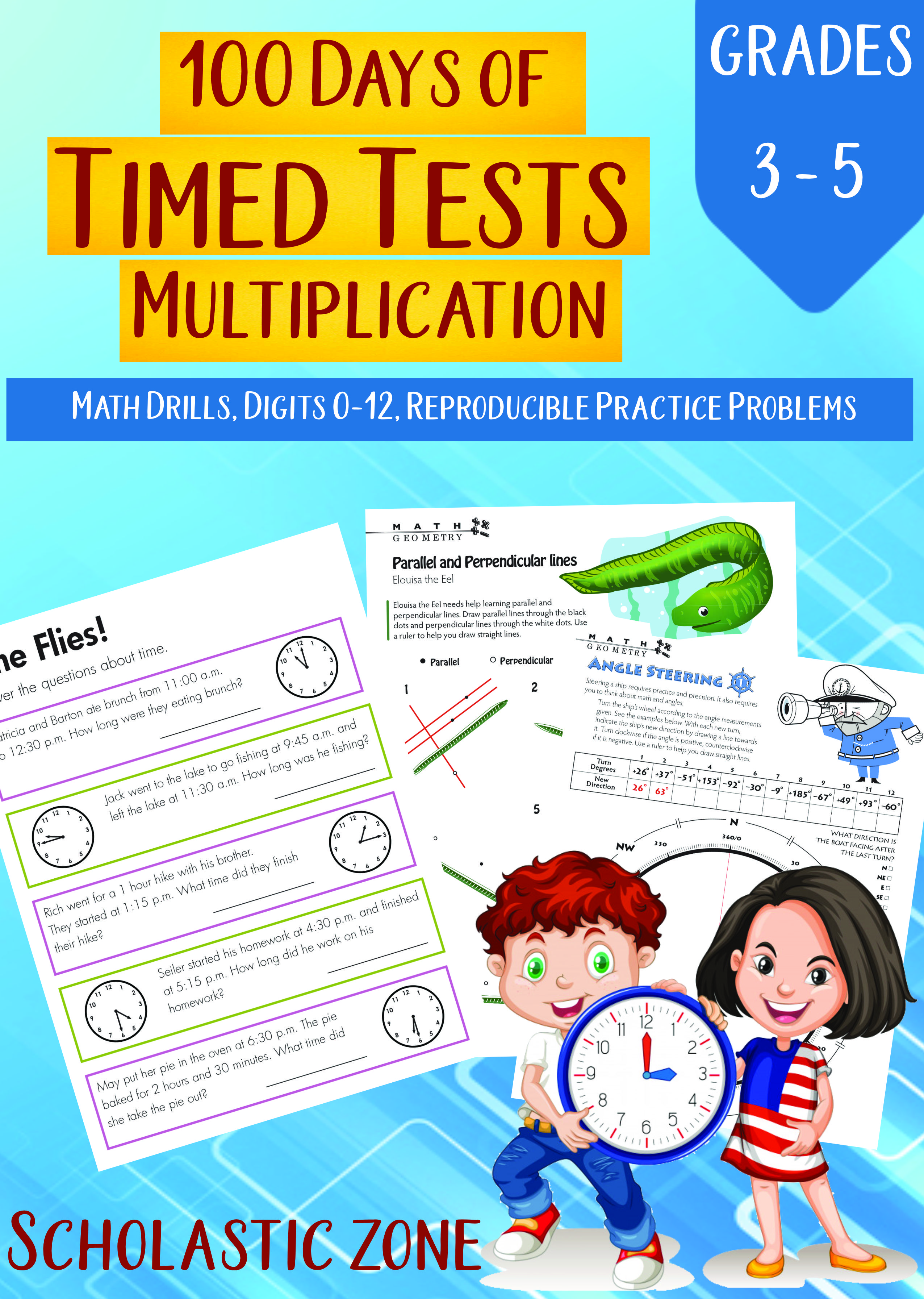 100 Days Of Timed Tests Multiplication Grades 3 5 Math