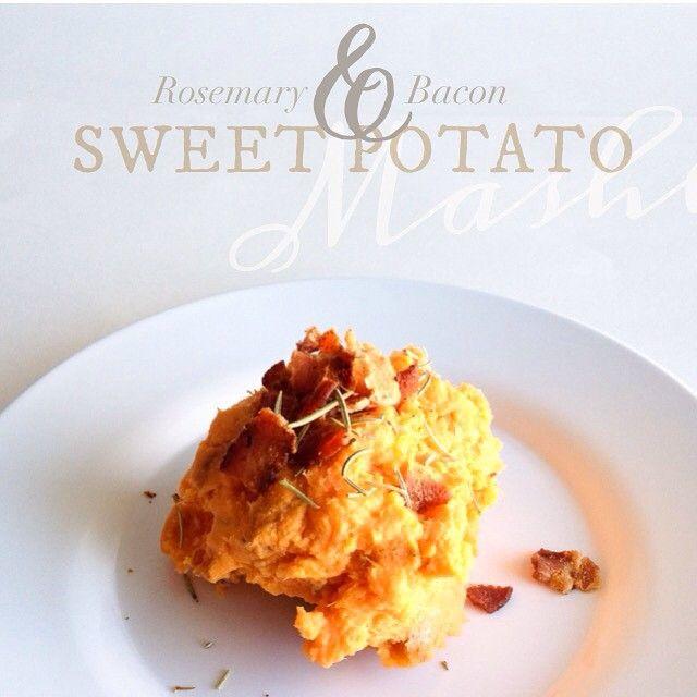Rosemary & Bacon Sweet Potato Mash