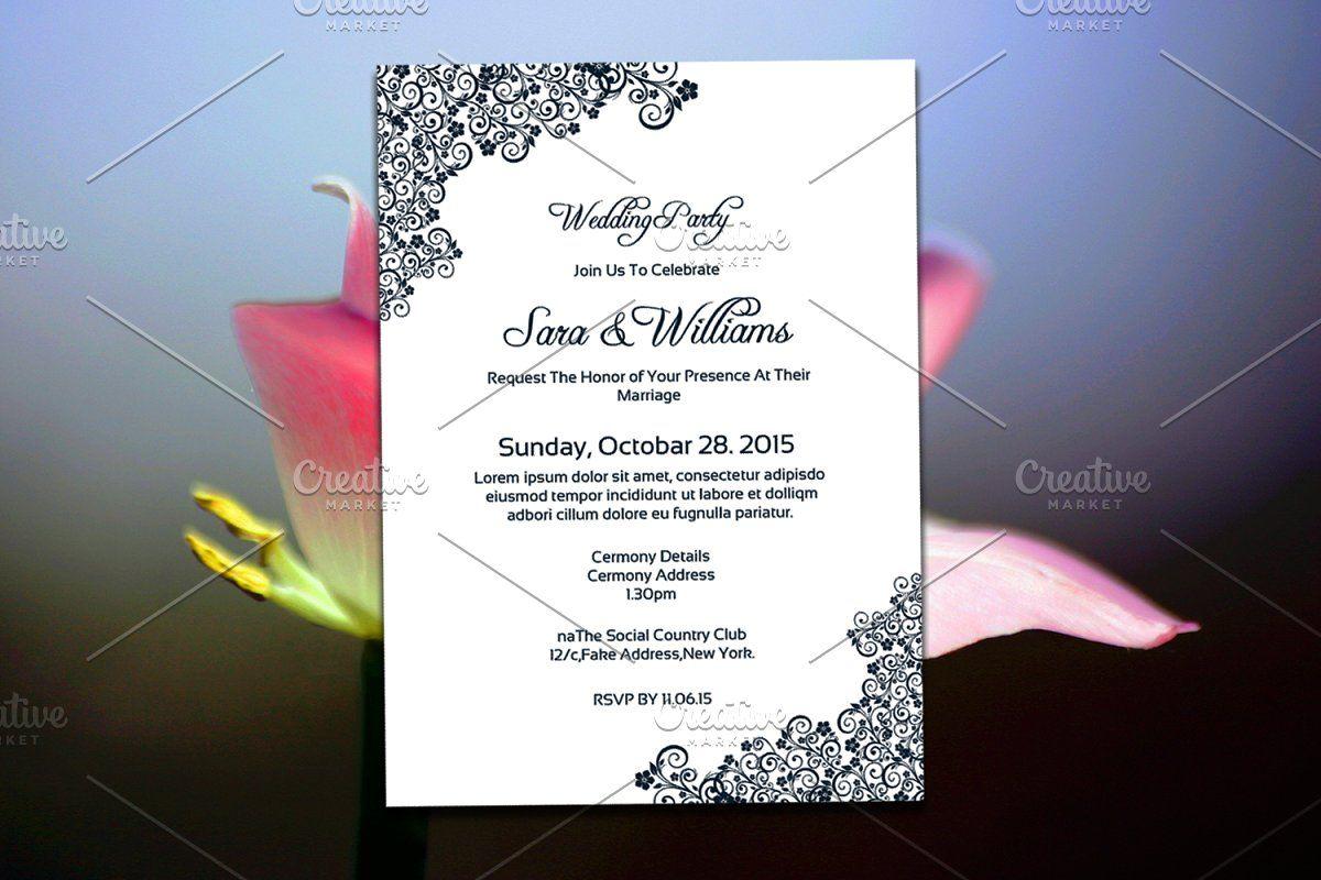 Wedding Invitation Card Template Wedding Invitation Card Template Wedding Invitation Cards Printable Wedding Invitations