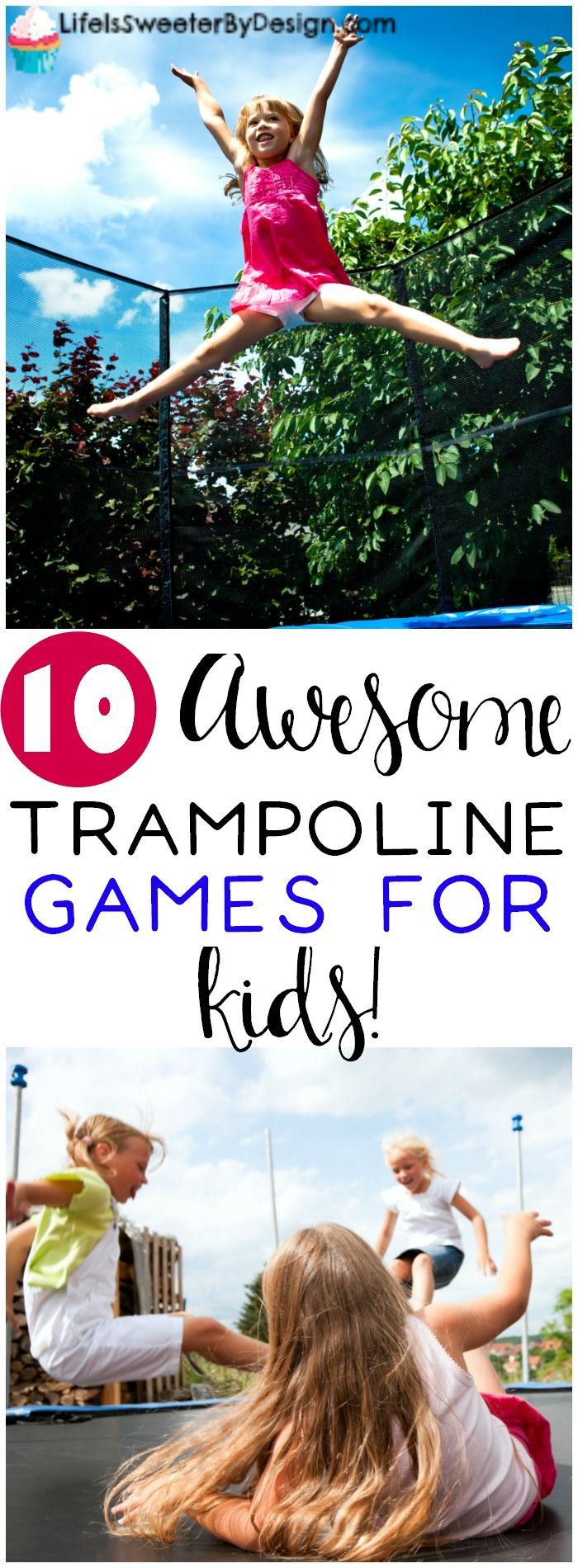 These 10 trampoline games for kids will keep them busy