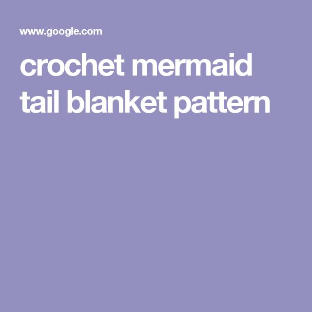 crochet mermaid tail blanket pattern | Mermaid Tail blankets | Pinterest